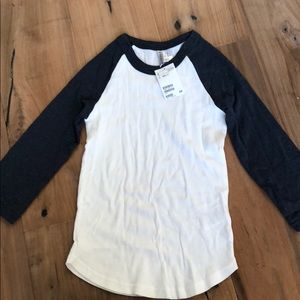 H&M baseball tee. New with tags!!